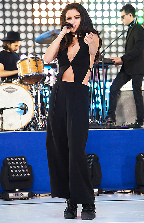 Selena Gomez performs on the Today show on October 12, 2015