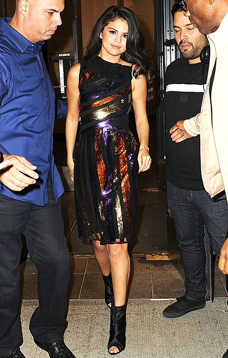 Selena Gomez leaving Watch What Happens Live on October 14, 2015