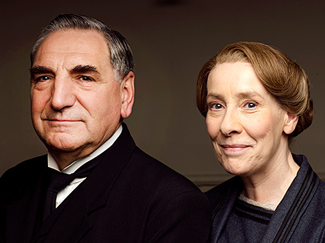 Jim Carter as Mr Carson and Phyllis Logan as Mrs Hughes