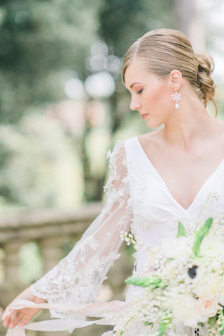 Long sleeve wedding dress | Alexandra Vonk | see more on: http://burnettsboards.com/2015/10/dream-wedding-italy/