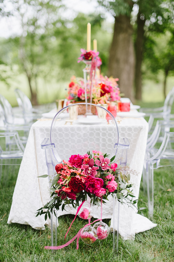 wedding chairs - photo by Natalie Franke http://ruffledblog.com/vintage-hot-air-balloon-wedding