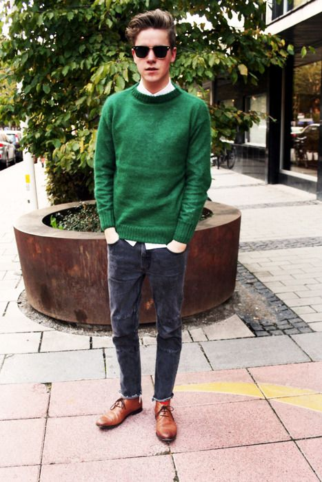 men outfits with brown dress shoes 13
