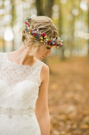 Floral Crown : Fall Wedding Inspiration - Rachel Peters Photography