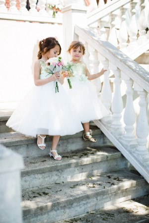 Flower Girls - Mint and Gold Sequins #Wedding - Caroline Ross Photography