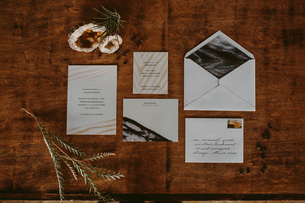 wedding invitations - photo by Megan Saul Photography http://ruffledblog.com/modern-safari-wedding-inspiration