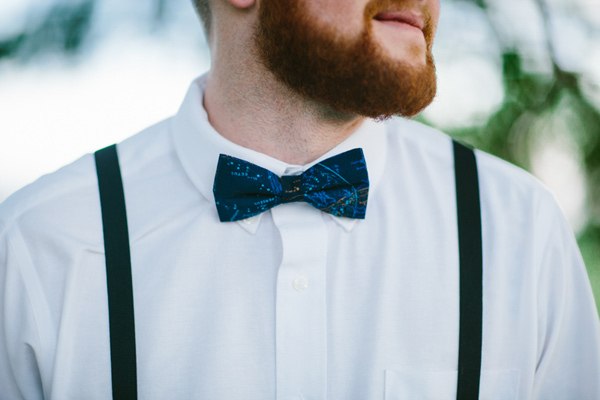 constellation bow tie - photo by Dawn Photography http://ruffledblog.com/galileo-inspired-wedding-ideas