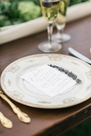 Calligraphy menu | Joy Michelle Photography | see more on: http://burnettsboards.com/2015/10/windswept-wedding-inspiration/