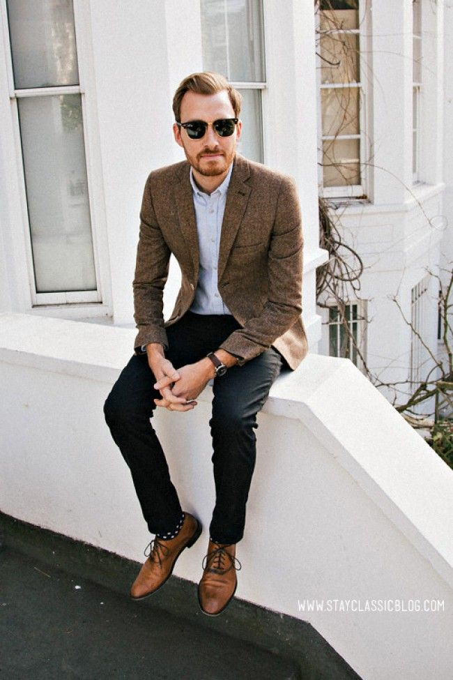men outfits with brown dress shoes 7