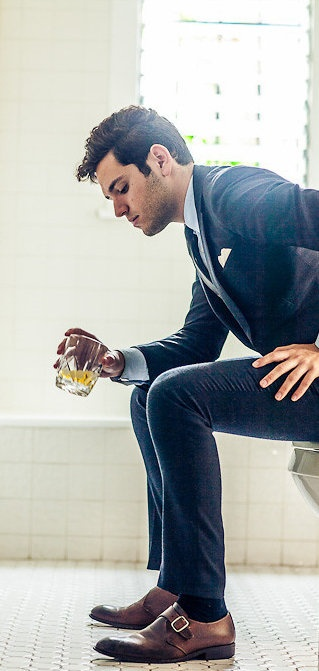 men outfits with brown dress shoes 8