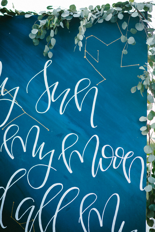 wedding backdrop detail - photo by Dawn Photography http://ruffledblog.com/galileo-inspired-wedding-ideas