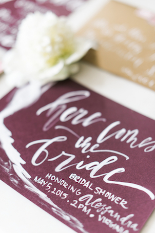 Unique calligraphy wedding invitations | Joy Michelle Photography | see more on: http://burnettsboards.com/2015/10/windswept-wedding-inspiration/