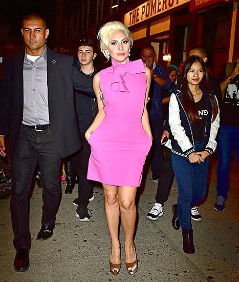 Lady Gaga attends The Pomeroy restaurant opening in Astoria, Queens on October 6, 2015 in New York City.
