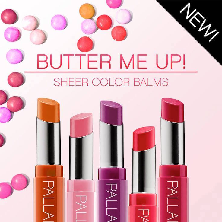 Palladio Butter Me Up! Sheer Color Balms