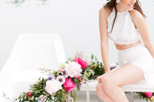 Flower covered boat | Roberta Facchini Photography | see more on: http://burnettsboards.com/2015/11/italian-bridal-preparation-inspiration/