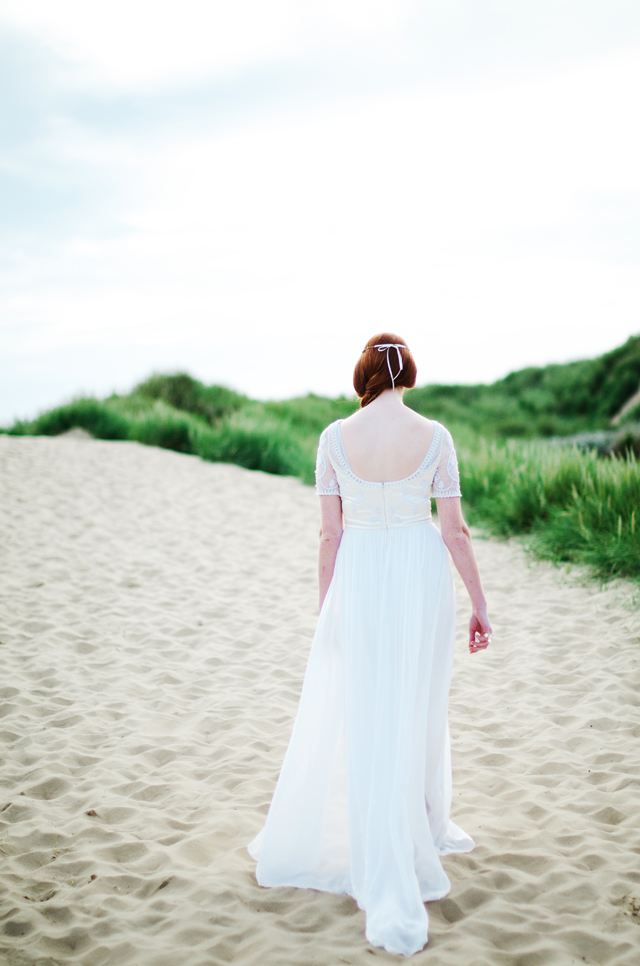 Temperley wedding dress | Catherine Noble Photography | see more on: http://burnettsboards.com/2015/11/bridals-british-beach/