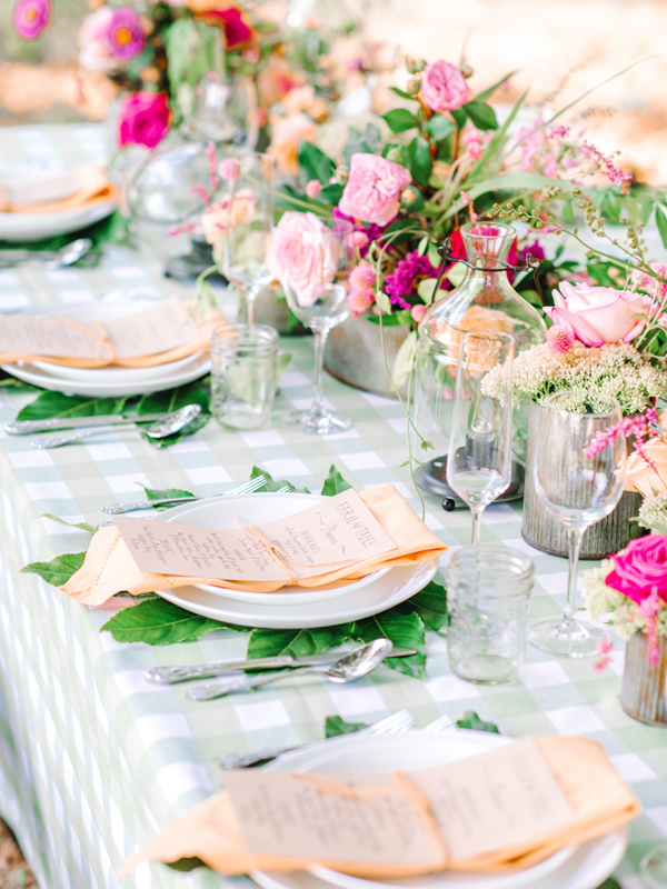 farm wedding table - photo by Pasha Belman Photography http://ruffledblog.com/bohemian-styled-southern-wedding-inspiration