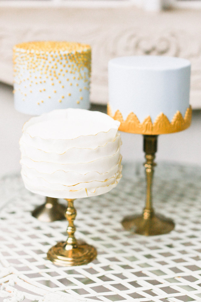 Trio of wedding cake | Ivy & Stone Photography | see more on: http://burnettsboards.com/2015/11/world-european-romance-themed-wedding/