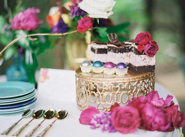 Jewel toned wedding desserts | Julie Paisley Photography and Cedarwood Weddings | see more on: