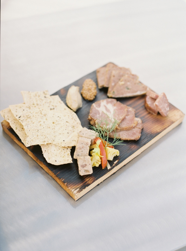 Cheese and meat plate | Christa Taylor Photography | see more on: http://burnettsboards.com/2015/11/urban-industrial-rooftop-wedding/