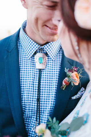 Southwestern themed wedding ideas | M. Felt Photography | see more on: http://burnettsboards.com/2015/11/mid-century-modern-southwestern-wedding/