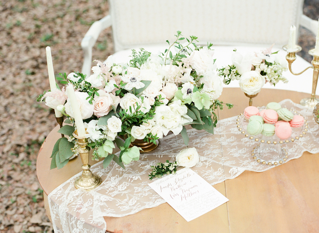 Romantic tablescape | Stephanie Rawcliffe Photography | see more on: http://burnettsboards.com/2015/11/blush-green-outdoor-bridal-session/