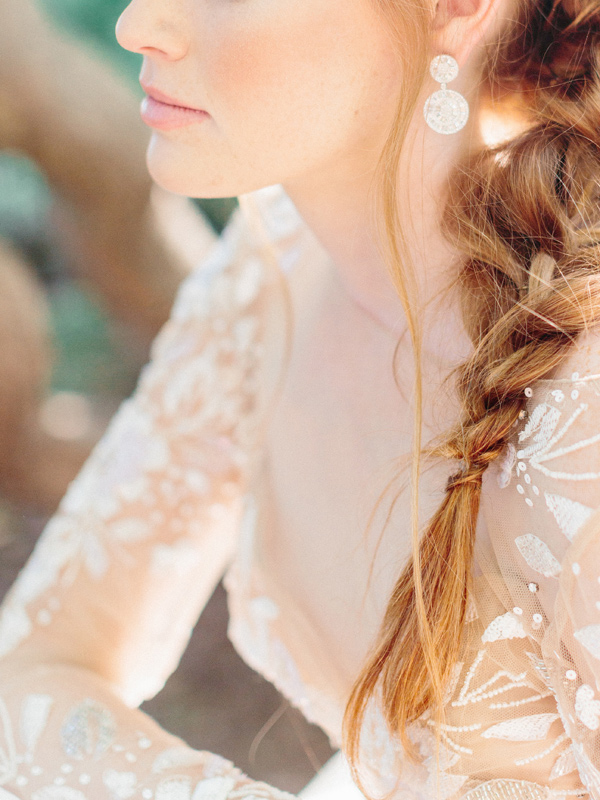 wedding braid detail - photo by Love by Serena http://ruffledblog.com/copper-and-slate-autumn-inspiration-shoot