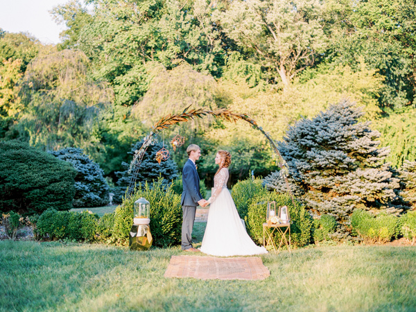 wedding ceremony - photo by Love by Serena http://ruffledblog.com/copper-and-slate-autumn-inspiration-shoot