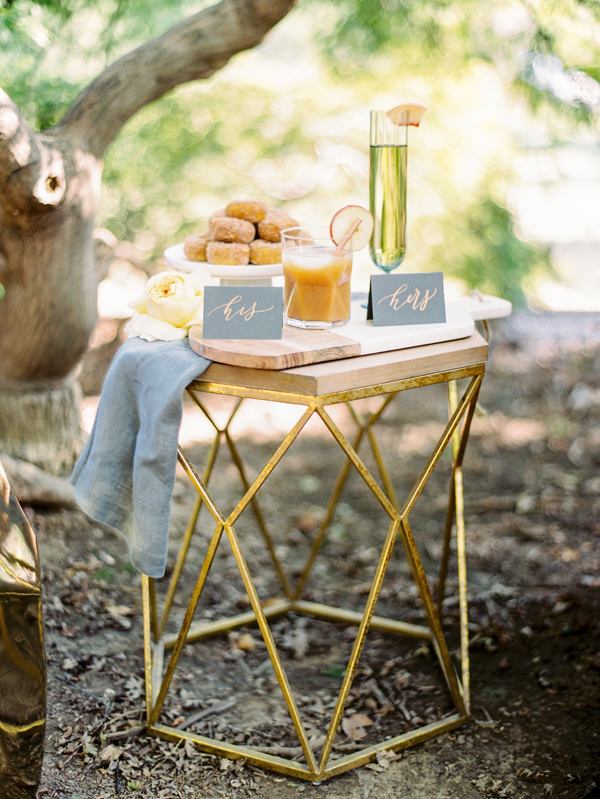 dessert table - photo by Love by Serena http://ruffledblog.com/copper-and-slate-autumn-inspiration-shoot