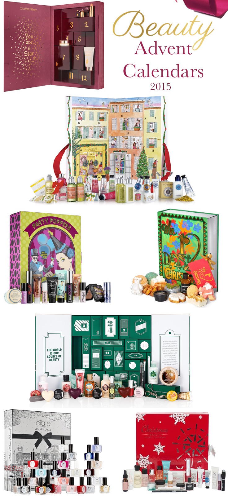 Here are the best beauty Advent calendars for 2015...bring on the beauty treats and make it Christmas every day!