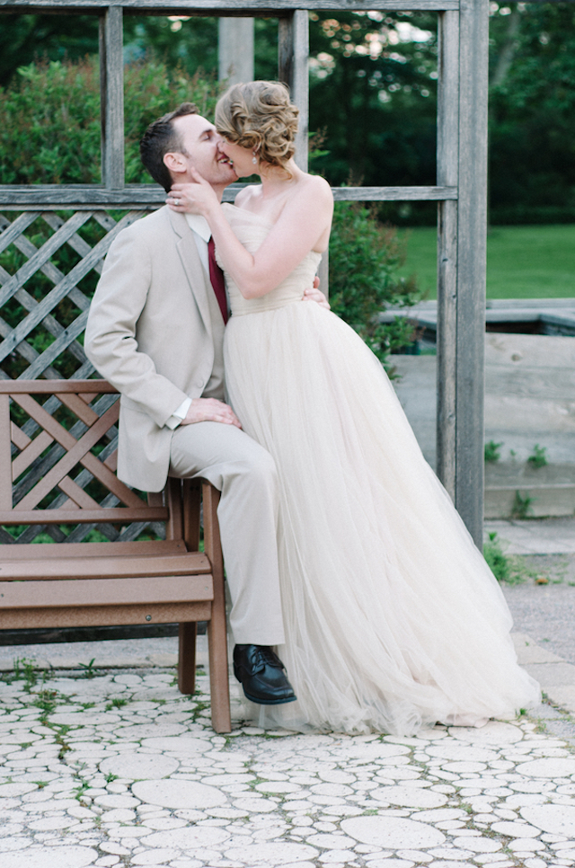 Romantic wedding dress | Tulip + Rose Photography | see more on: http://burnettsboards.com/2015/11/manets-luncheon-grass-wedding-inspiration/