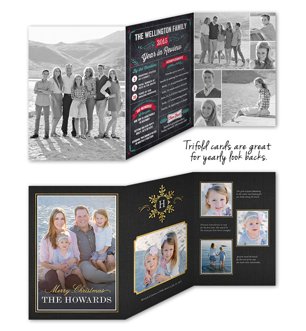 shutterfly christmas cards trifold holiday greeting card year in revview life update howweholiday
