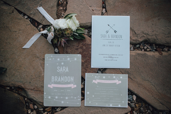 wedding invitation - photo by Marble Rye Photography http://ruffledblog.com/desert-dance-party-wedding-in-ojai