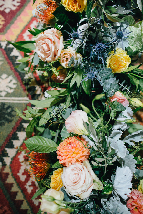 desert wedding flowers - photo by Marble Rye Photography http://ruffledblog.com/desert-dance-party-wedding-in-ojai
