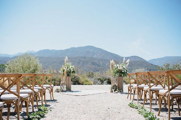 ceremony setup - photo by Marble Rye Photography http://ruffledblog.com/desert-dance-party-wedding-in-ojai