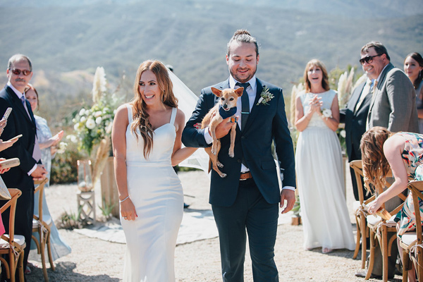 ceremony recessional - photo by Marble Rye Photography http://ruffledblog.com/desert-dance-party-wedding-in-ojai