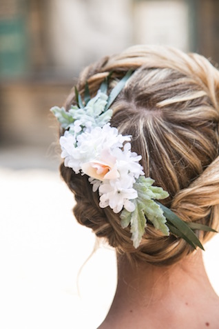 Braided crown hairstyle | K+B Photo | see more on: http://burnettsboards.com/2015/11/fun-flirty-bridal-shower/