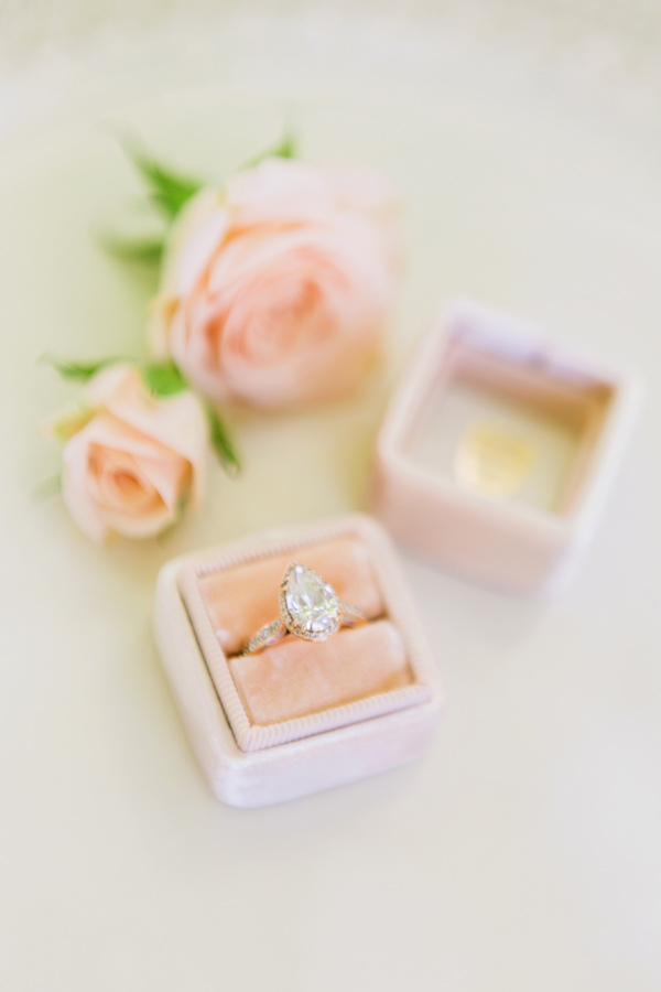 marquis cut engagement ring - photo by Milou and Olin http://ruffledblog.com/romantic-blush-winery-wedding