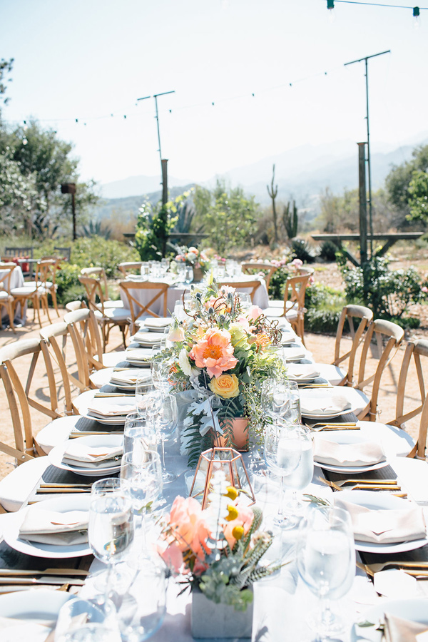 modern desert wedding tablescape - photo by Marble Rye Photography http://ruffledblog.com/desert-dance-party-wedding-in-ojai