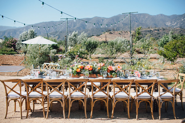 wedding reception - photo by Marble Rye Photography http://ruffledblog.com/desert-dance-party-wedding-in-ojai