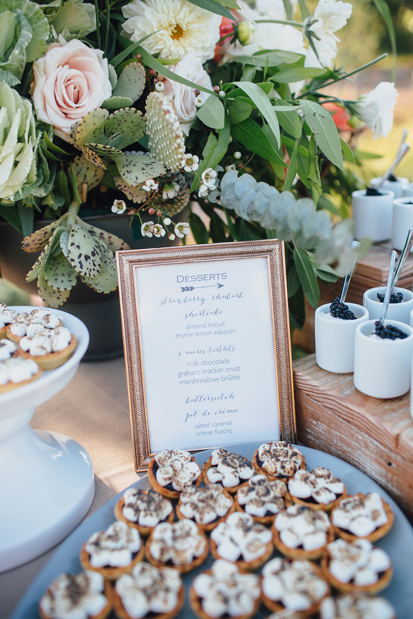 dessert menu - photo by Marble Rye Photography http://ruffledblog.com/desert-dance-party-wedding-in-ojai