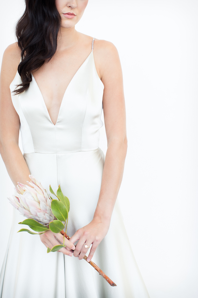 Elizabeth Dye wedding dress | Canary Grey and a&bé bridal boutique | see more on: http://burnettsboards.com/2015/11/incredible-wedding-dresses/