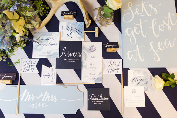 Nautical wedding invitations - Shelly Taylor Photography