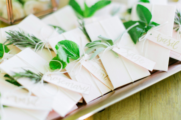 seed packet wedding favors - photo by Milou and Olin http://ruffledblog.com/romantic-blush-winery-wedding