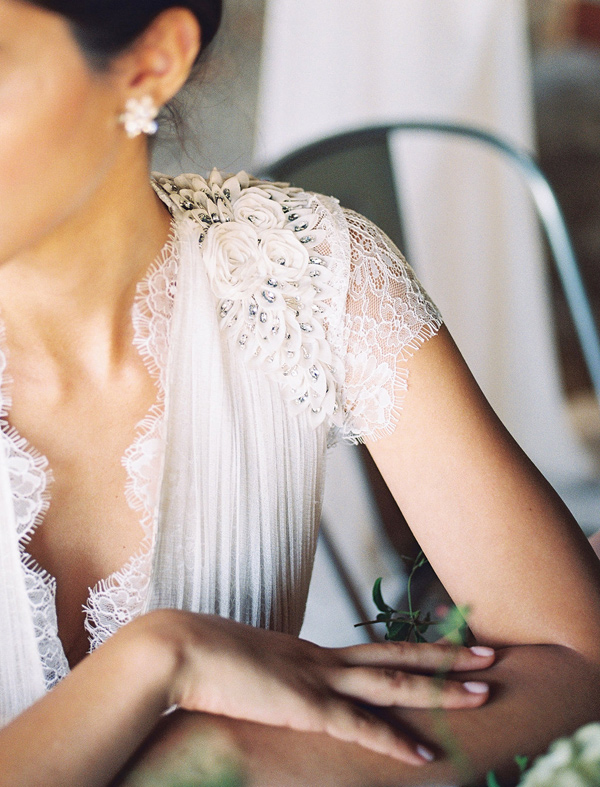 wedding dress detail - photo by Tracy Enoch Photography http://ruffledblog.com/organic-bohemian-wedding-inspiration