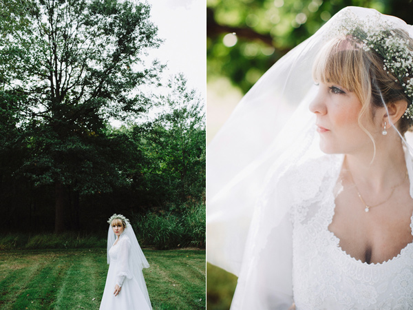 wedding veil - photo by With Love and Embers http://ruffledblog.com/valley-crest-farm-wedding