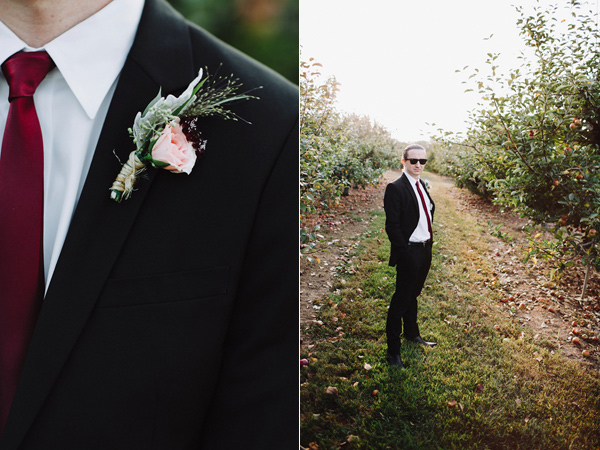 boutonniere - photo by With Love and Embers http://ruffledblog.com/valley-crest-farm-wedding