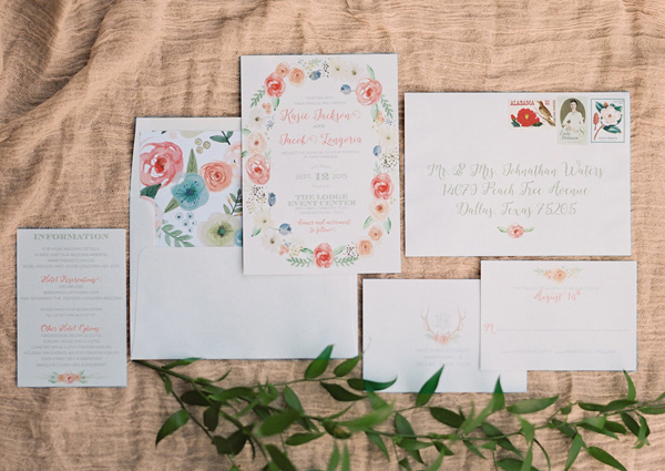 romantic wedding invitation - photo by Tracy Enoch Photography http://ruffledblog.com/organic-bohemian-wedding-inspiration