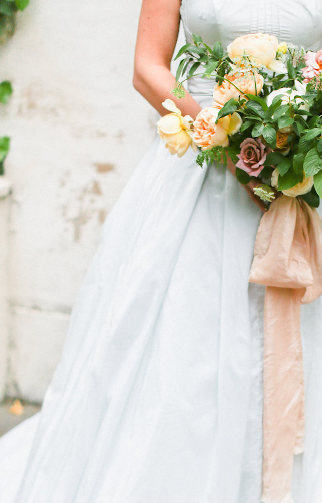 Ribbons on bridal bouquet | Ivy & Stone Photography | see more on: http://burnettsboards.com/2015/11/world-european-romance-themed-wedding/
