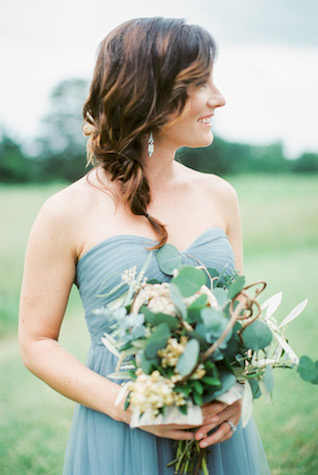 BHLDN blue bridesmaids' dress | Sharon Nicole Photography | see more on: http://burnettsboards.com/2015/11/modernly-rustic-texas-hill-country-wedding/