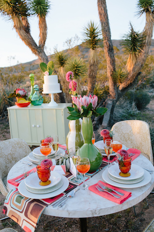 Mid-century modern desert wedding | M. Felt Photography | see more on: http://burnettsboards.com/2015/11/mid-century-modern-southwestern-wedding/